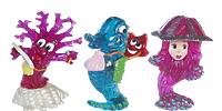 Aqualand Figuren. Schöne Unterwassertiere als Ü-Ei Figuren, Seestern, Qualle, Muschel, Anemone