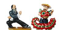 Handbemalte Asien Figuren von Ferrero. Kinder Überraschung aus Asien Kung Fu China