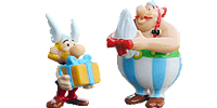 Asterix Geburtstag 50 Jahre. Figuren aus dem Ü-Ei mit Obelix und seine Freunde