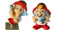 Feuerwehr Figuren als Babys. Ü-Eier Figuren von Ferrero
