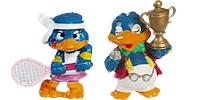 Die Bingo Birds Figuren beim Tennis spielen. Vogel die Tennis-spielen können :-)