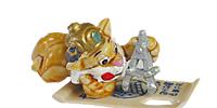 10 schöne Miezi Cats Figurensatz von 1998 aus den Üebrraschungsei