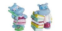 Happy Hippo Company Figuren. Hippos aus dem Ü-Ei von Ferrero - Kinderüberraschung