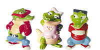 Handbemalte Kinder Überraschungsei Figuren von Ferrero als niedliche Krokodile