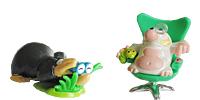 Niedliche Maulwurf Figuren aus den Überraschungsei Conny Control  Rick Radar  Lady Charme Rudi Raser Mole Kinder Figuren Maulwurfhügel