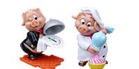 Ü-Eier Figuren Küchenschweine Küchenduell Koch Schweine kochen Figuren für Kinder und Köche