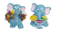 Die Funny Fanten im Cluburlaub. Coole Elefanten Figuren die alle Handbemalt sind aus dem Ü-Ei von Ferrero