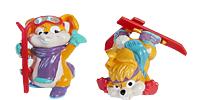 Die Hanny Bunnys als lsutige Skihasen Figuren. Können auch schon als Deko Figuren genutzt werden (Skiurlaub - Geschnek Dekoration)