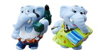 Elefanten als Heimwerker Figuren Handbemalte Figuren von Ferrero aus den Kinder Überraschungsei
