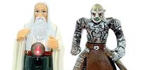 Herr der Ringe Figuren aus den Film der Herr der Ringe  Die zwei Türme mit Frodo Gandalf Sam Galadriel Legolas Ork Saruman