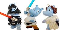 Star Wars Figuren aus dem Ü-Ei - Luke Skywalker Dark Laser Figuren Hippos von Ferrero