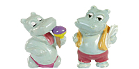 Die Happy Hippo Figuren aus dem Überraschungsei von Ferrero