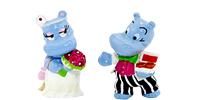 Die Happy Hippo Hochtzeit als Dekofiguren. Alle Figuren sind detailgetreu Handbemalt. Hochtzeitfotograf, Hochtzeitpaar Musik Party Figuren