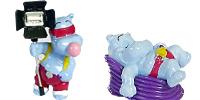 Die Happy Hippos aus Hollywood als Handbemalte Ü-Ei Figuren
