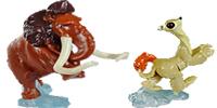 Ice Age 4 Figuren aus den Kinder Überraschungsei von Ferrero. Filmfiguren wie Sid, Manny, Diego und seine Freunde