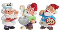 Die Küchenzwerge Andi Abwasch Diddi Dotter  Hansi Hoppla Manni Mannehme Pizza Paule Tommy Tränchen. Handbemalte Ü-Ei Figuren von Ferrero