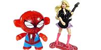 Barbie Figuren Ü-Ei Mantel aus dem Ü-Ei Marvel Superhelden Twistheads Spindermann Captain Marvel Schurken
