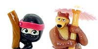 Mascha und der Bär Figuren aus dem Kinder Überaschungsei von Ferrero