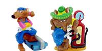 Die Moto Coyoten als Figuren zum sammlen. Handbemalte Ü-Eier Figuren von Ferrero günstig bei uns im Eierlei-Shop.de