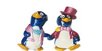 Die Pappy Pingo Party Figuren aus dem Ü-Ei von Ferrero. Pinguine die eine Party feiern mit allen drum und drann