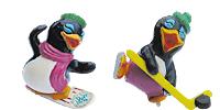 Die Peppy Pingos Figuren von Ferrero. Aus dem Überrashungsei. Pinguine Pingo Eis Schnee Snowboard