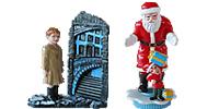 Der Polar Express Schaffner Tom Hengst der kleine Junge, das Mädchen Kinder Filmfiguren Lok Eisenbahn Kälte