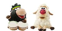 Schaffiguren aus dem Ü-Ei Scgaf Schafe schwarzen Scharf Wolle Deich Figur Figuren