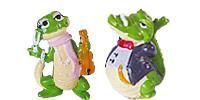 Die Kroko Schule aus dem Ü-Ei. Krokodile als Überraschungsier Figuren von Ferrero