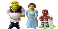 Shrek – Der tollkühne Held Shrek und Fiona als auch Esel Überraschung Drache Figur Figuren ferrero Ü-Ei