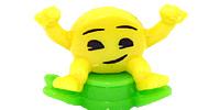 Figuren aus den Kinderjoy Ei von Ferrero. Viele Emoji Smily Figuren mit allen drum und dran