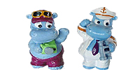 Figuren vom Happy Hippo Traumschiff. Ü-Eier Figuren Hippos Hippo