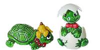 Die Teeny Tapsi Törtels von Ferrero aus dem Ü-Ei. NIedliche Schildkröten Figuren
