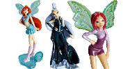 WinX 2012 Stella Musa Figuren Winx Club  Feen Musa, Flora und Tecna Bloom, Stella, Layla, Flora, Musa