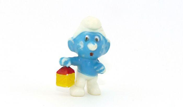 Hellblauen Nachwächterschlumpf (Ü-Ei Farbvariante)