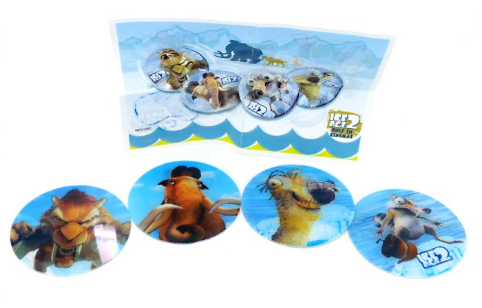 Wackelbilder Satz von ICE AGE 2 mit 1 Beipackzettel