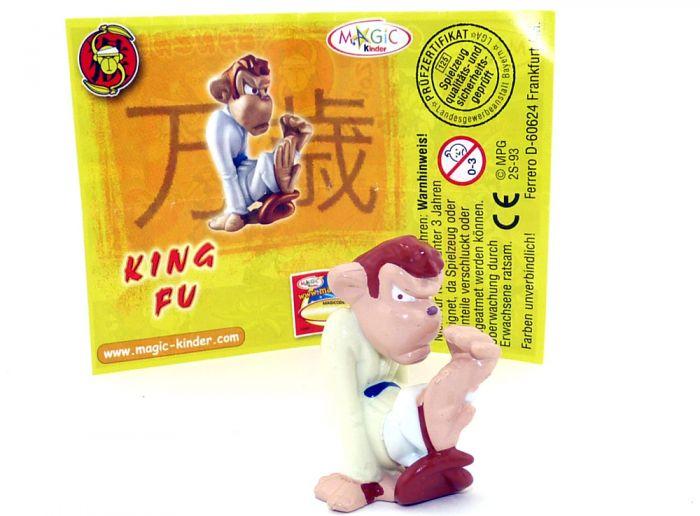 King Fu mit komplett gelben Oberkörper und weißen Beinen - Füße Grundmaterial (Zoff im Affenstall)