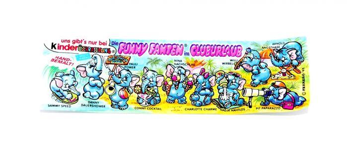 Funny Fanten im Cluburlaub (Beipacklzettel - BPZ - Zettel)