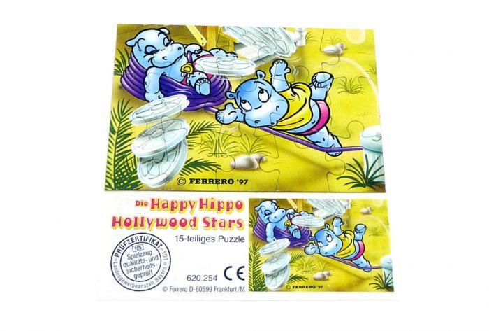 Happy Hippo Hollywood Stars Puzzleecke unten links mit Beipackzettel