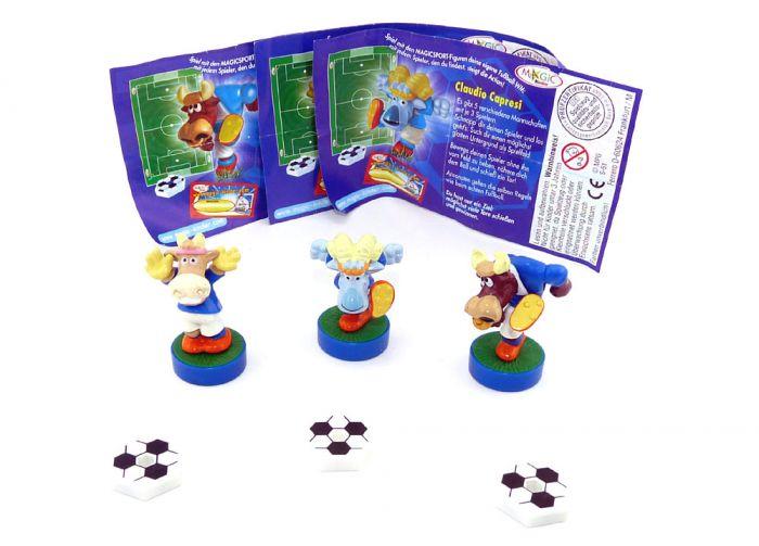 Dunkelblauer Figurensatz von Magic Sport mit 3 Zetteln (Magic Sport 1)
