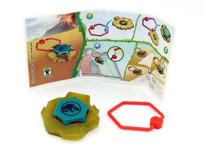 Jurassic World Spielzeug 2021 Kinder Joy. Keychain  mit Beipackzettel  VV412