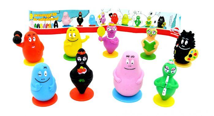 Alle 9 BARBAPAPA Figuren aus dem Jahr 2009 (Firma Dolci Preziosi)