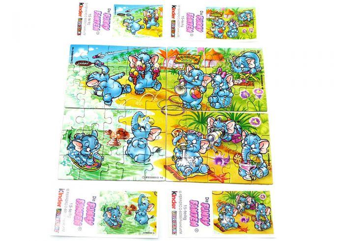 Cluburlaub, alle 4 Puzzle mit vier Beipackzettel (Superpuzzle)