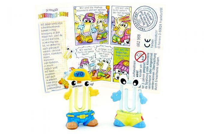 Hopclip & Hipclip mit gelbe Mütze mit Beipackzettel (Schreibtischbande)