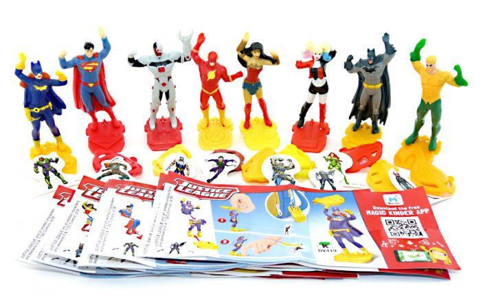 Justice League Figurensatz mit allen Beipackzettel und Zubehör (Sätze Europa)
