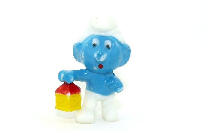 Hellblaue Nachwächterschlumpf (Ü-Ei Farbvariante)