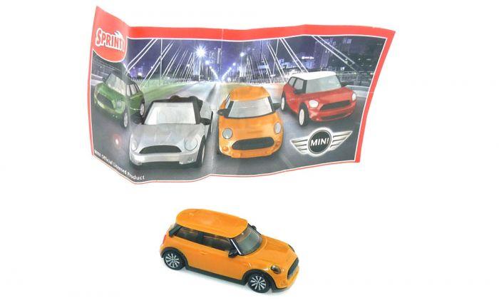 Mini BMW ARANCIONE + CARTINA in orange SD214 mit Beipackzettel (Sprinty 2016 - 2017)