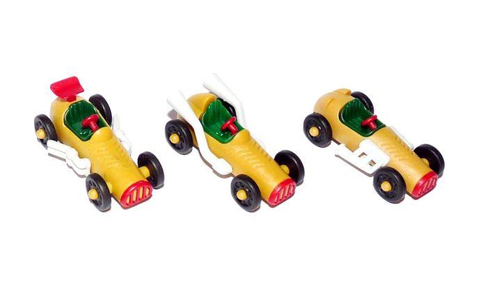 Satz Oldtimer Rennwagen die grauen Varianten von 1993 (Autos)