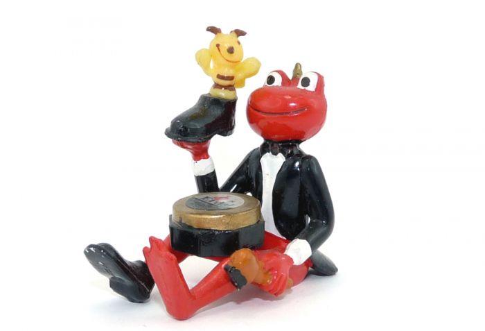 Erdal Rotfrosch Figuren mit Biene im Schuh. Größe 4 x 4 cm