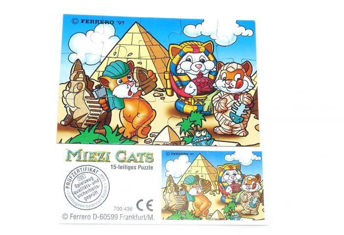 Miezi Cats Puzzle oben links mit Beipackzettel