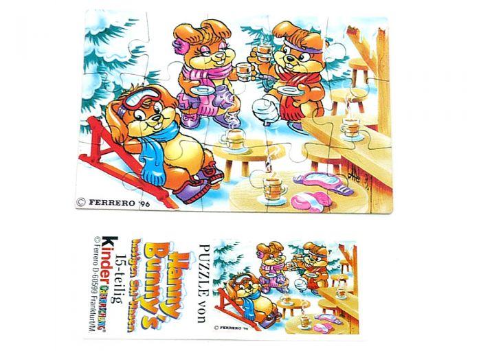 Hanny Bunny Puzzleecke unten rechts mit Beipackzettel